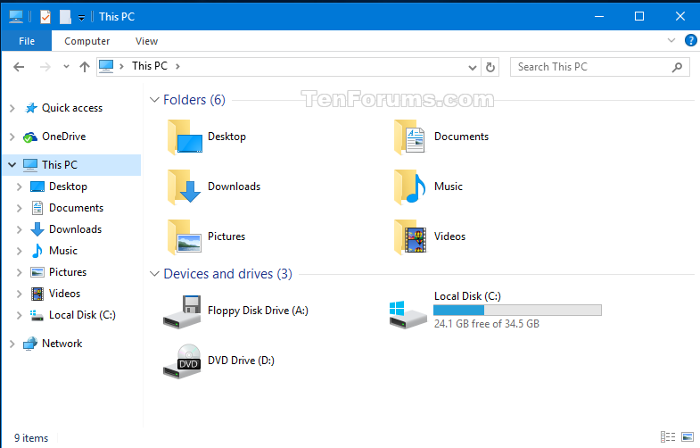 Add or Remove Duplicate Drives in Navigation Pane in Windows 10