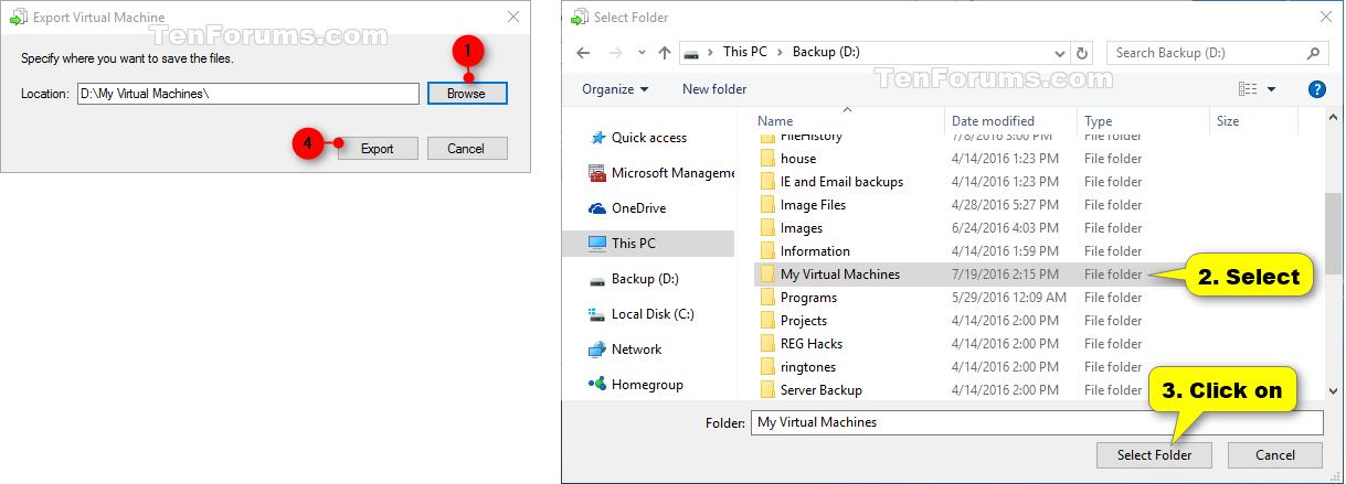 Export Hyper-V Virtual Machine in Windows 10 | Tutorials