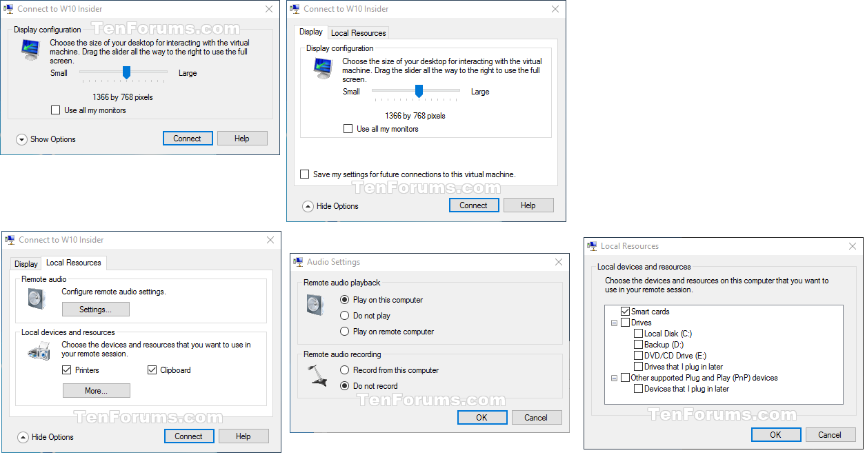 Turn On or Off Hyper-V Enhanced Session Mode in Windows 10