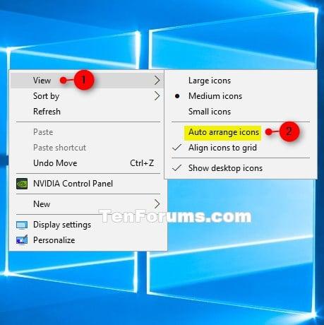 How to arrange desktop icons