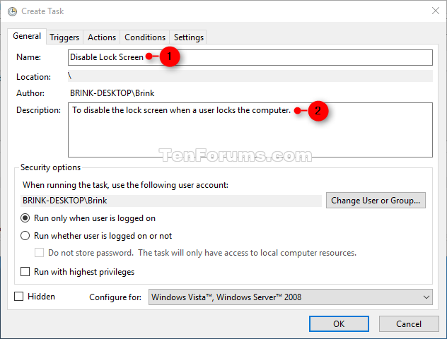 how to lock computer windows 10