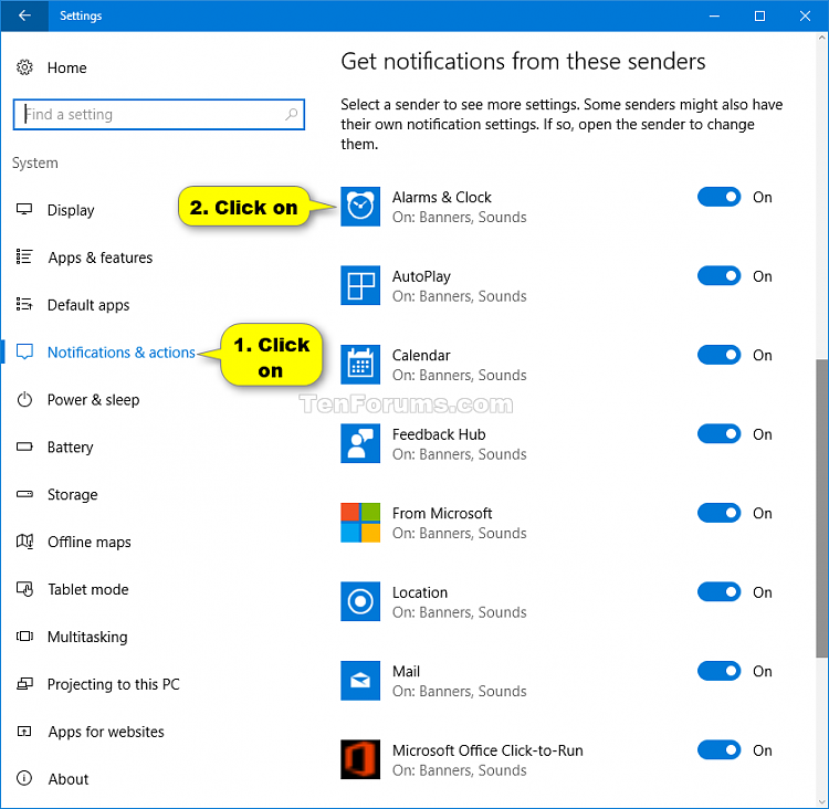 Turn On or Off Showing Notifications in Action Center in Windows 10-action_center_notification_settings-1.png