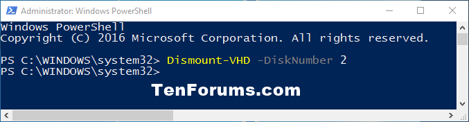 Click image for larger version.  Name:Dismount-VHD_-DiskNumber_PowerShell.png Views:46 Size:13.0 KB ID:97995