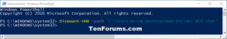 Click image for larger version.  Name:Dismount-VHD_-path_PowerShell.png Views:556 Size:15.0 KB ID:97996