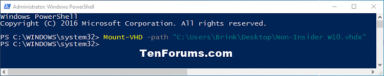 Click image for larger version.  Name:Mount-VHD_PowerShell.png Views:195 Size:14.4 KB ID:97999