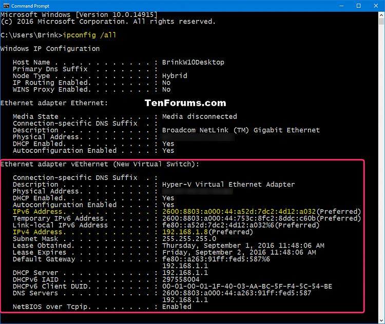 Find IP Address of Windows 10 PC   Windows 10 Tutorials