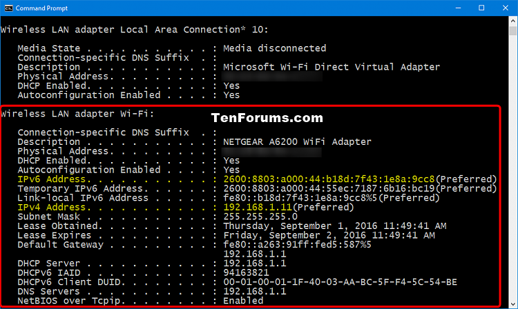 how to change wifi ip address in windows 10
