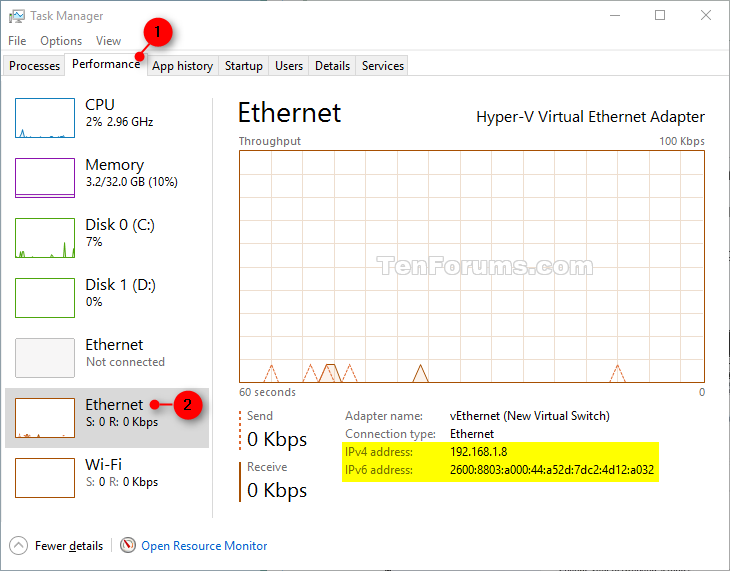 how to change the ip address in windows 10