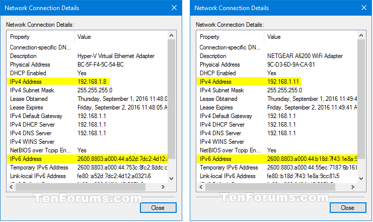 how to see ip addresses on network