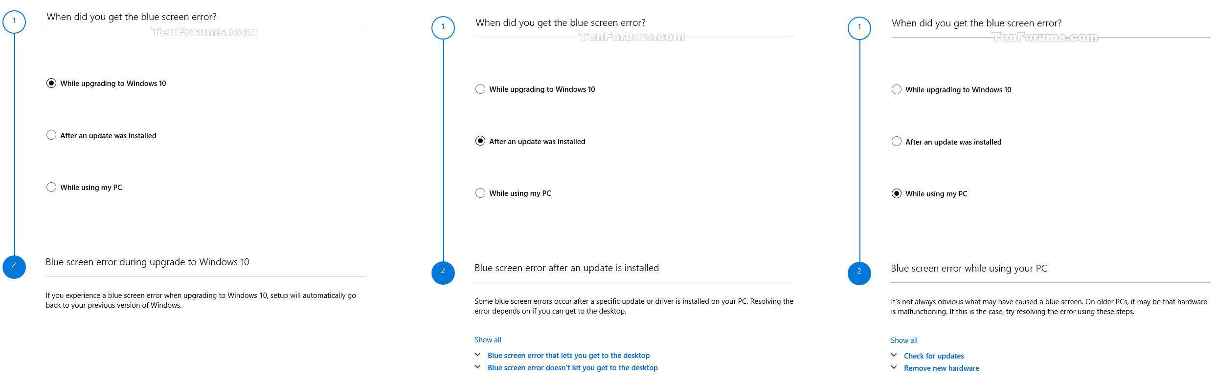 Run BSOD Error Troubleshooter in Windows 10 | Tutorials