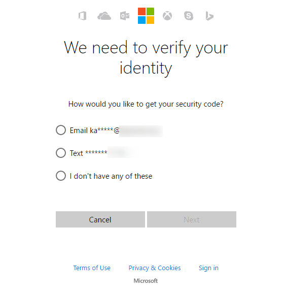 how to find microsoft account and password