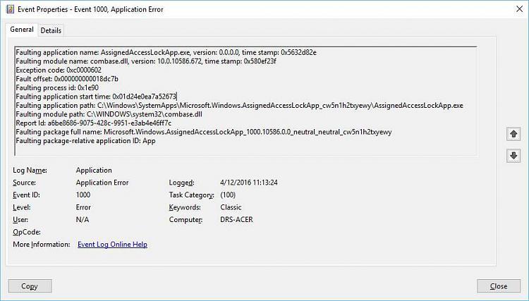 Windows return to Log In Screen immediately after Success Log In-error_log_descr.jpeg