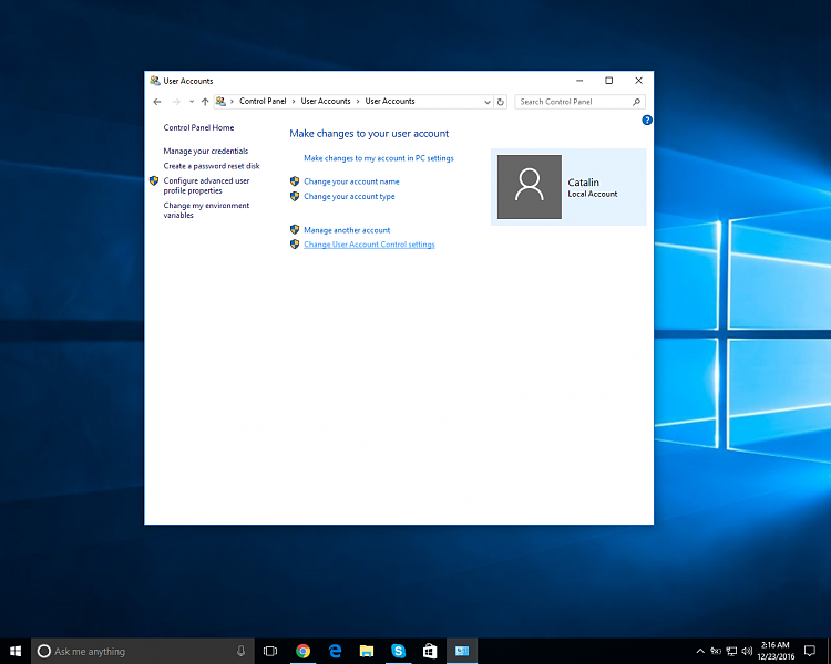 how to change run as an admin in windows 10