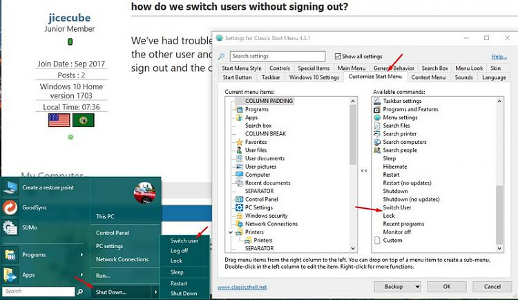 how to get to switch users windows 10