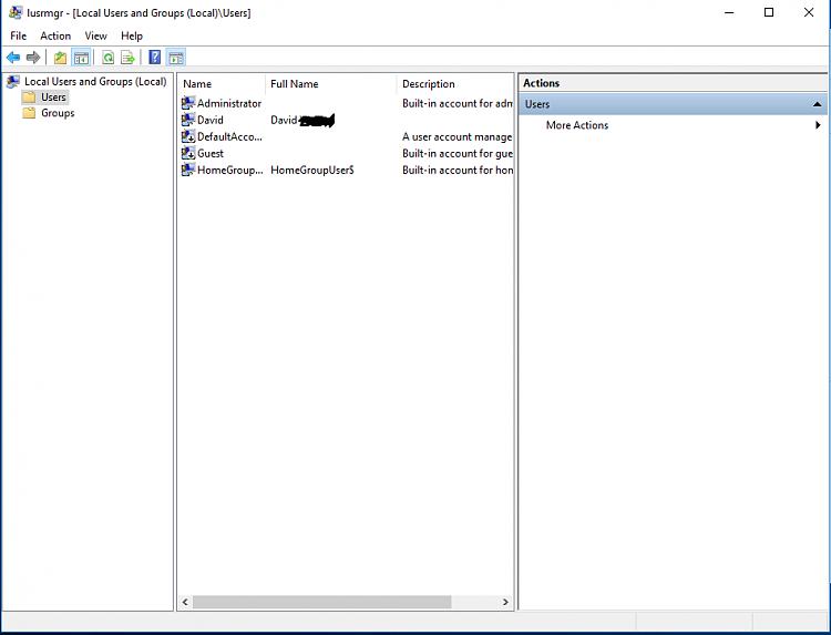 windows 10 home add administrator account