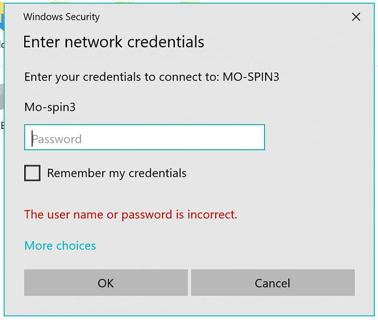 Click image for larger version.  Name:Enter network credentials window.JPG Views:3 Size:53.5 KB ID:175767
