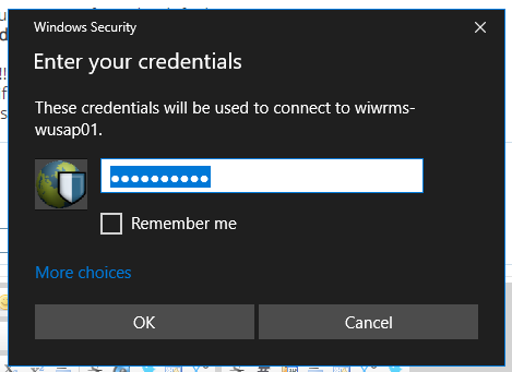 RDP Requesting only a password, no username  Solved