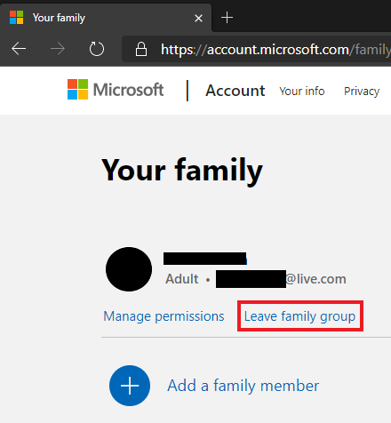 Last member (Adult) unable to leave Family group-leave-family-001.png