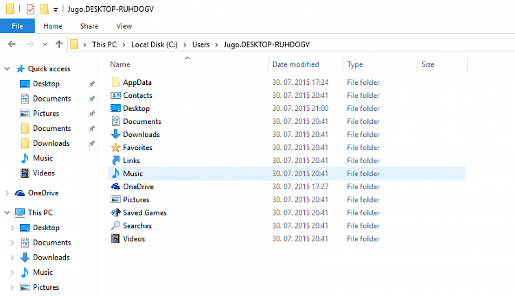 Windows 10 made two user folders Solved - Windows 10 Forums