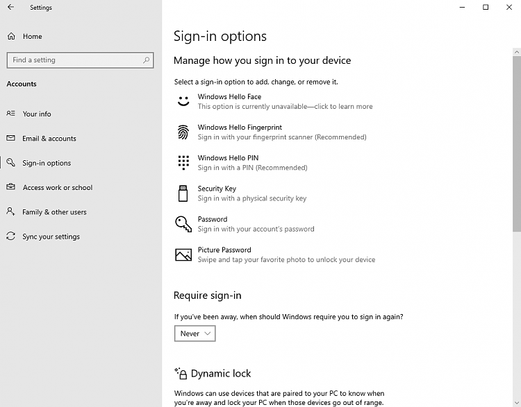 """Sign-in options: Require sign-in """"When PC wakes up from sleep"""" missing-settings1.png"""