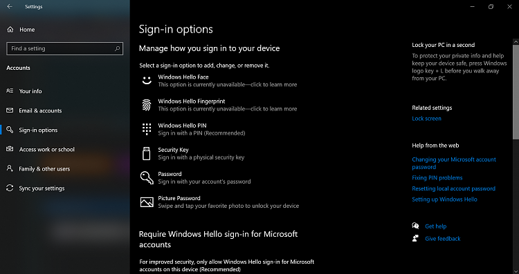 Settings > Accounts... clicking on Sign In Options does nothing-2021-06-15_16h56_19.png