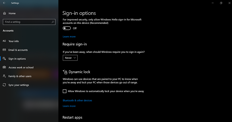 Settings > Accounts... clicking on Sign In Options does nothing-2021-06-15_16h56_40.png