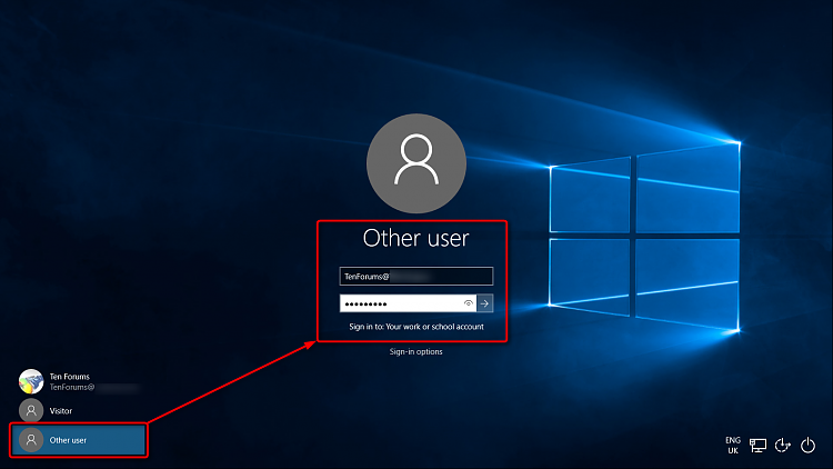 Logging into windows 10 pro using office 365 credentials for Window 365 login