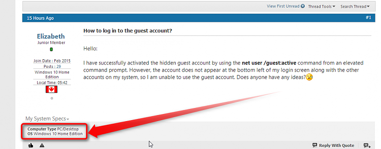How to log in to the guest account? - Windows 10 Forums