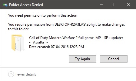 Unable to take ownership of a folder  Solved - Windows 10 Forums