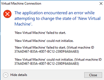 hyper V machine's stopped working - Windows 10 Forums
