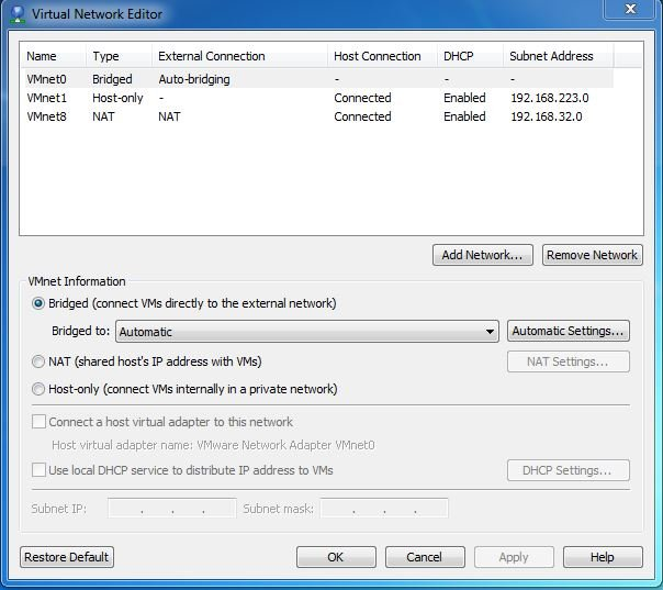 VMware - Force VM to use