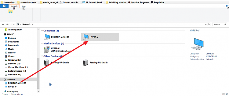 Very slow file transfer from hyper-v to host drive - Windows
