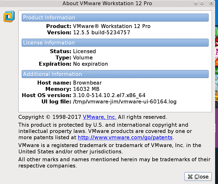 vmware workstation 12.5.5 license key