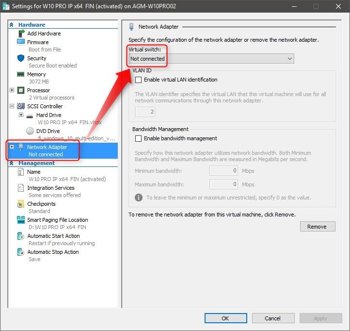Hyper-v virtual switch breaks my network Solved - Windows 10