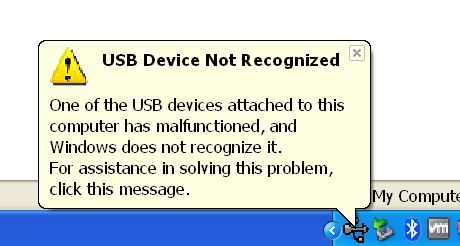 Click image for larger version.  Name:USB Device Not Recognized.JPG Views:25 Size:30.4 KB ID:167429