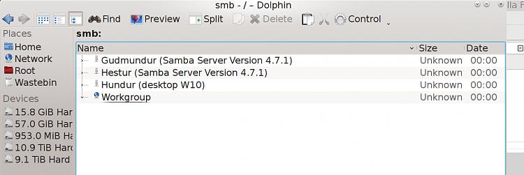 Linux Samba settings to display Windows shares Solved