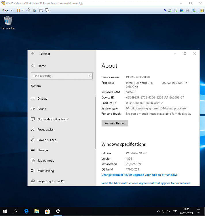 I can't install W10 1809 in VirtualBox Solved - Windows 10 Forums