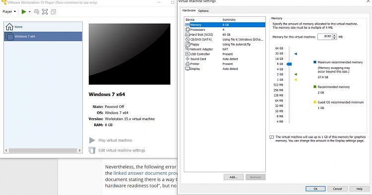 Questions about wanting to run Win7 WMC in VM under Win10