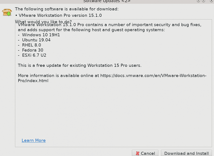 VMWare Workstation Player new release 15.0.3 avaiable-snapshot41.png