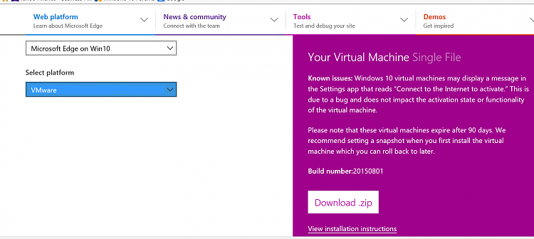 Windows 10 virtual machines now available on Microsoft Edge Dev-vms1.png