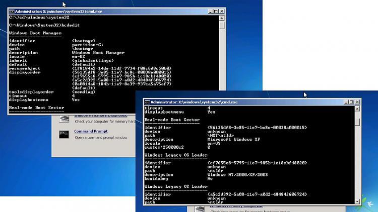 creating a VM win7, on win 10 pro i3 gen 9 machine-bcdedit.jpg