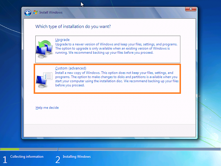 creating a VM win7, on win 10 pro i3 gen 9 machine-7-i2.png