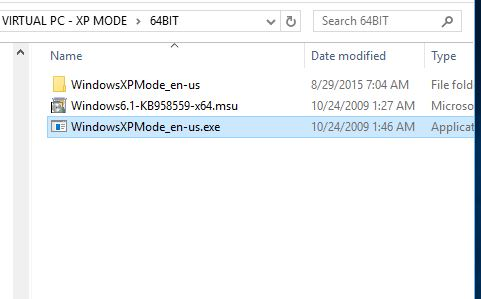 Click image for larger version.  Name:HYPER-V XP MODE 1 LOCATE XP MODE EXE FILE.jpg Views:111 Size:25.6 KB ID:34507