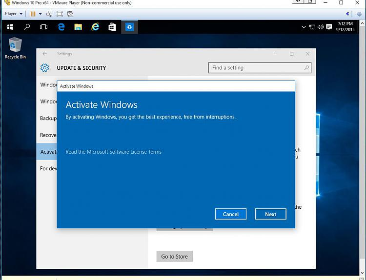 Clean install of w10 not possible in virtual machine solved name activating w10 vm 1g views ccuart Choice Image