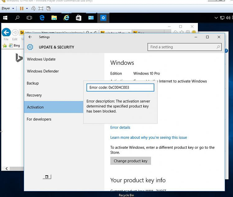 Click image for larger version.  Name:ACTIVATING W10 VM 2 REJECTED BY MS.jpg Views:3 Size:89.9 KB ID:37227