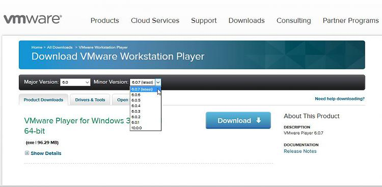 Click image for larger version.  Name:VM PLAYER FREE VERSION MINOR 32BIT OPTION.jpg Views:3 Size:65.9 KB ID:38392