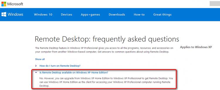 Remote Desktop Connection Explained - Question remote XP