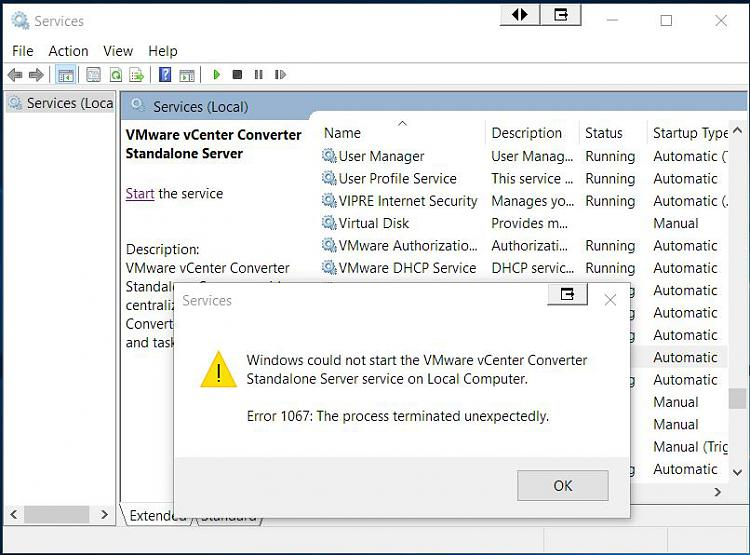 Click image for larger version.  Name:VMware vCenter Converter Stand Alone Server Error.jpg Views:1 Size:90.2 KB ID:67390