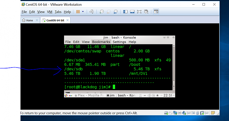Windows HOST, attach Linux external USB to Linux VM Solved
