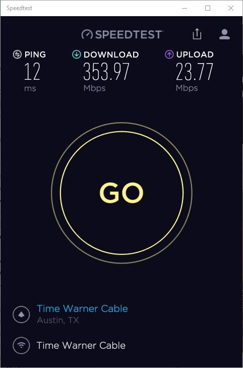 My Internet Speed Ookla